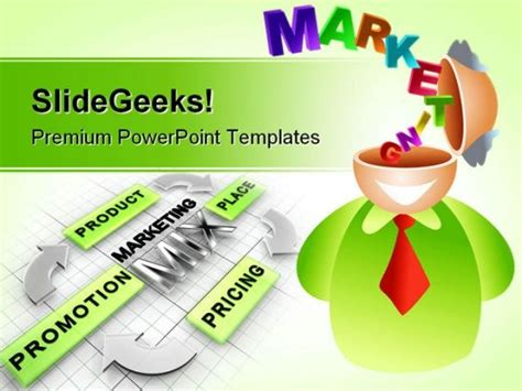 marketing brain business powerpoint backgrounds and