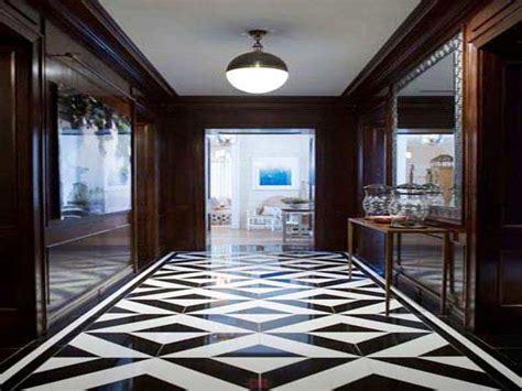 White marble flooring design, black and white stone black
