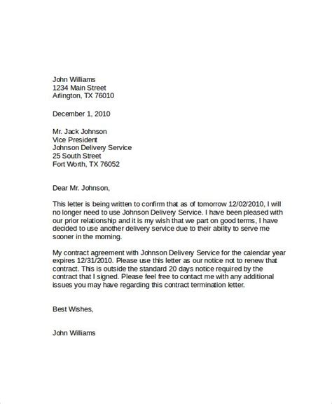 write termination letter cleaning company cover templates