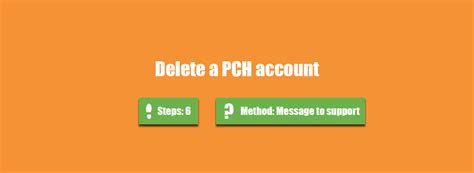 My Account Pch - how to delete my pch account accountdeleters