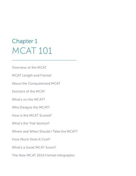 bench prep mcat mcat playbook excerpts