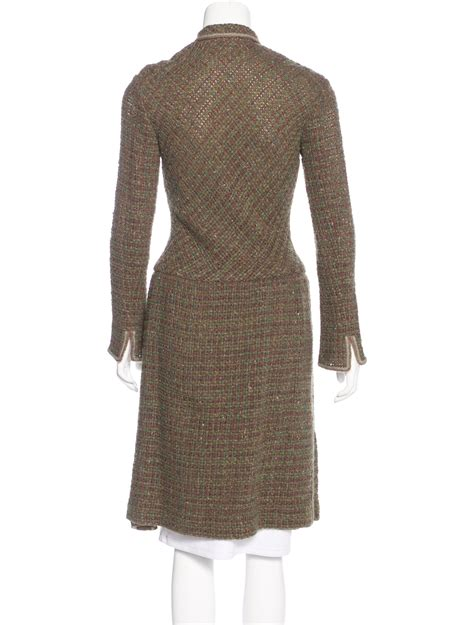 Dress Chanell 4 chanel tweed pleated dress clothing cha190955 the