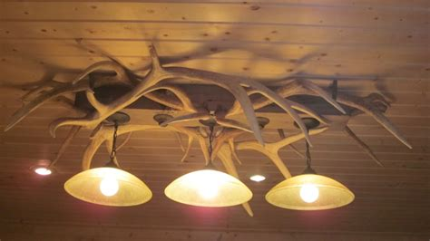 Handmade Lighting - elk antler pool table light dsrve handmade lighting