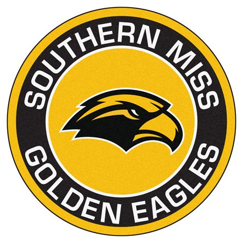 of southern mississippi southern miss golden eagles logo roundel mat 27 quot area rug