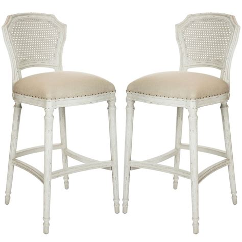 Country Chic Bar Stools by Distressed Back Bar Stools Belleescape Cottage