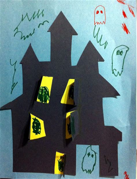 haunted house craft puzzling pinterest project 5 a haunted house craft