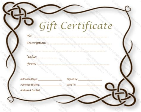 blank christmas gift certificate search results