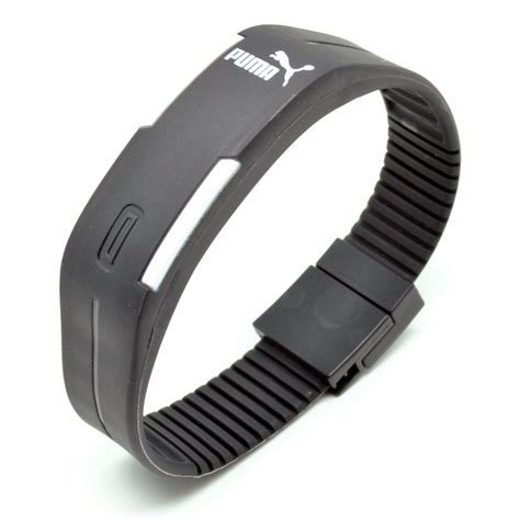 Jam Tangan Unisex Led jam tangan led gelang sport pumas black white jakartanotebook