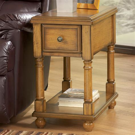 Chairside End Table With Drawer by Brown Holfield Chairside End Table With