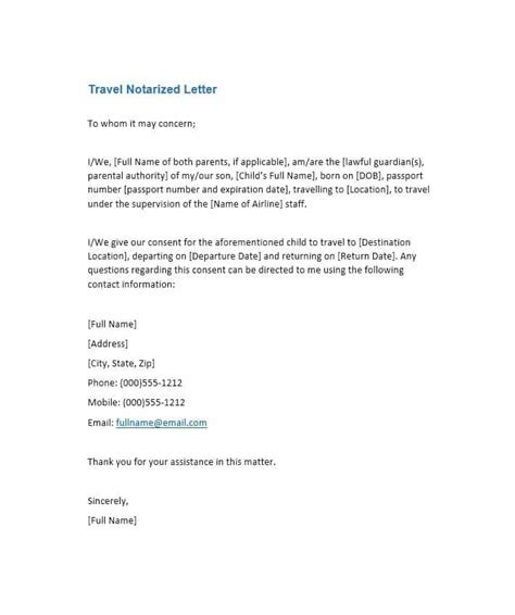 To Whom It May Concern Letter Template Word