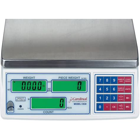 cardinal digital counting scale w rechargeable battery 30 lb c30 cardinal digital counting scale w rechargeable battery 65 lb c65