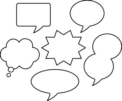 set of blank comic speech bubbles free clip art