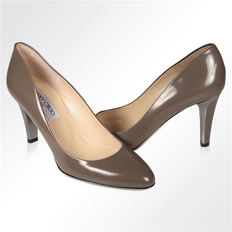 jimmy choo designer shoes for gray leather pumps jcw11
