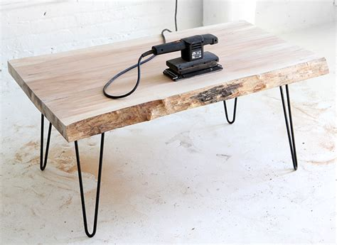 Wood Coffee Table Diy 187 My Diy Wood Slab Coffee Table
