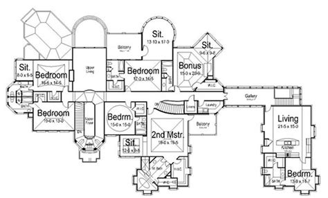 floor plans for large homes large images for house plan 106 1147