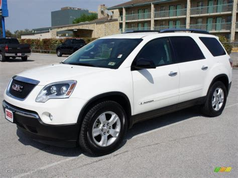 2007 summit white gmc acadia sle 47190212 gtcarlot car color galleries