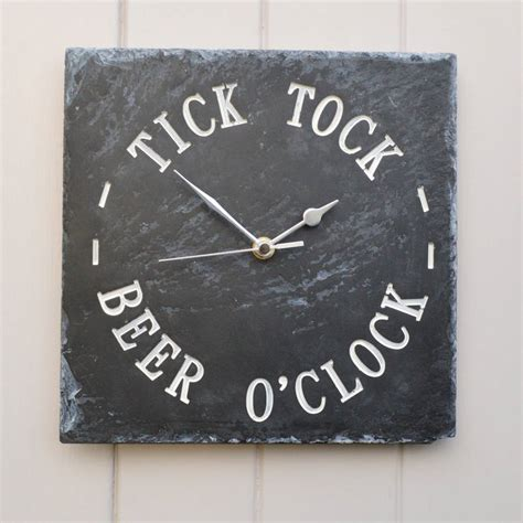 What Is A Good Housewarming Gift by Beer O Clock Engraved Slate Clock By Winning Works