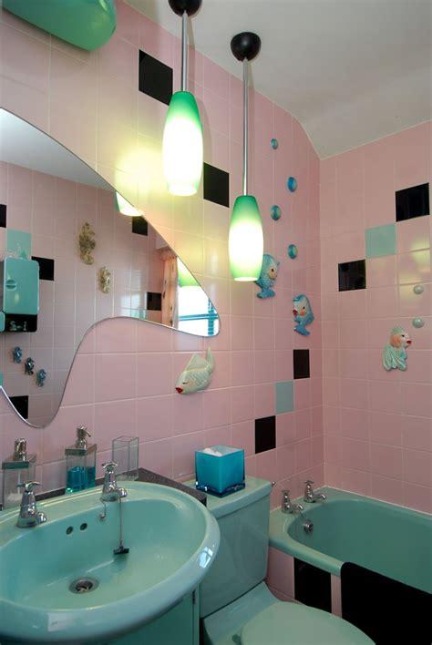modern retro bathroom vintage retro mid century modern pink and aqua