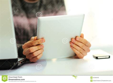 reading on tablet reading on tablet computer stock photos image 35196443