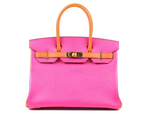 H Rmes Birkin Croco 30 Cm Shocking Pink hermes birkin bag pink orange bicolour 30cm chevre with gold