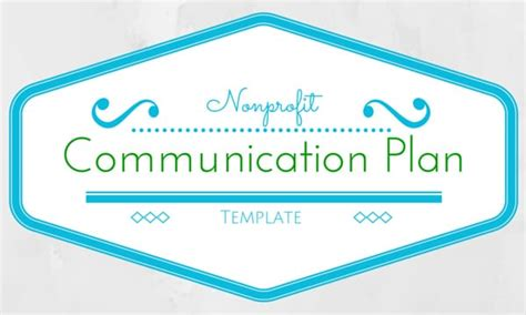 nonprofit communications plan template communication plan template upleaf