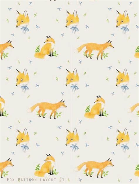 watercolor fox pattern 1006 best printables images on pinterest thoughts