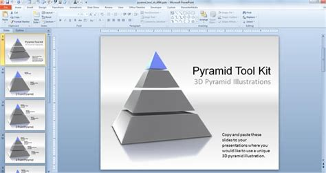 pyramid powerpoint template 3d pyramid powerpoint templates toolkit powerpoint