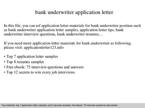 Bank Letter Of Explanation Sle Bank Underwriter Application Letter