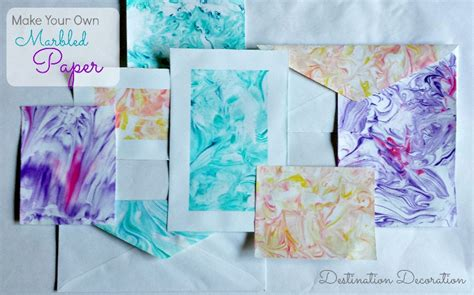 Make Marbled Paper - how to make marbled paper using diy crush