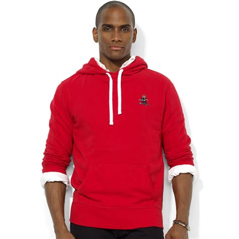 Sweater Hoodie Polos Lyst Ralph Polo Fleece Pullover Hoodie In