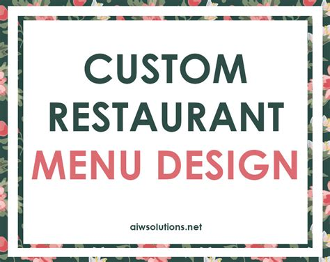 custom menu template custom label design label design hang tag design soap
