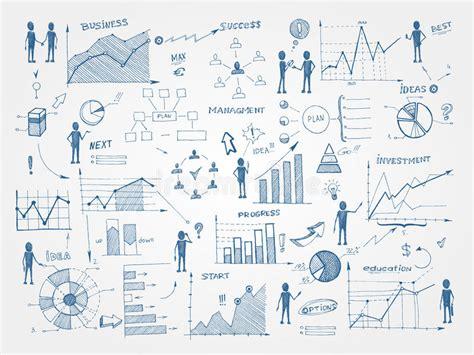 doodle list of elements doodle business management infographics elements stock