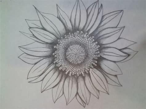 Sunflower Tattoo By Disturbddragon On Deviantart Black And White Sunflower Shoulder