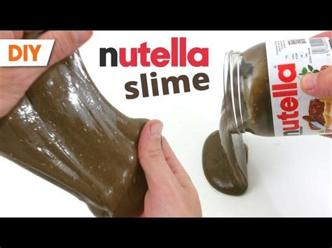 comment du slime nutella how to make a nutella