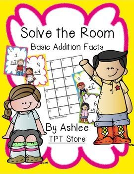 solve the room solve the room basic addition facts by will run for books