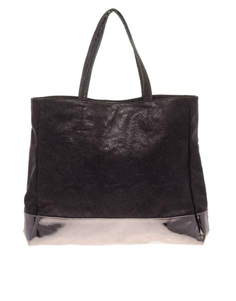 asos asos colour block shopper bag at asos