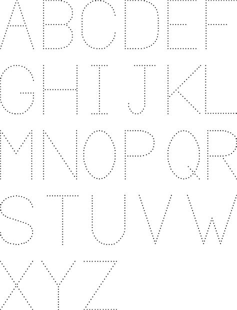 printable alphabet tracing pages common worksheets 187 dotted numbers to trace preschool