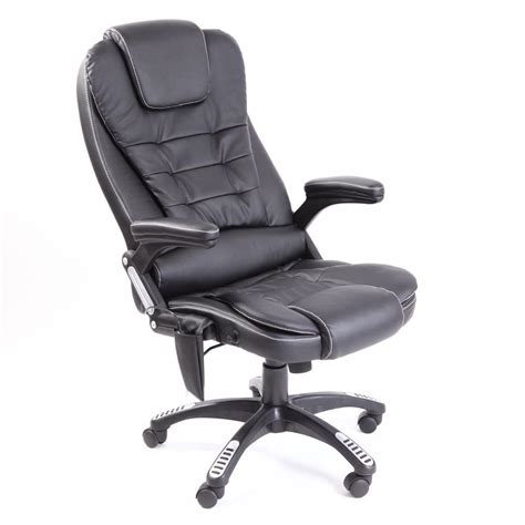 Desk Chair Heater by Black Leather Reclining W 6 Point Heat High