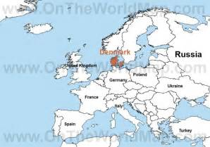 World Map Denmark by Denmark On The World Map Denmark On The Europe Map
