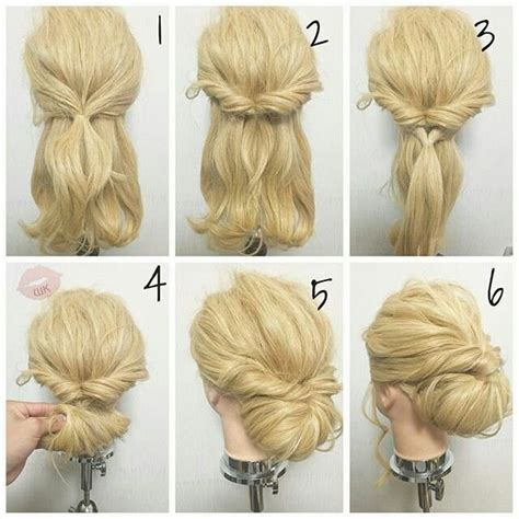 directions for easy updos for medium hair pin by jama mcmahan on updos pinterest updo hair