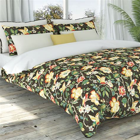 Tropical Duvet Covers tess coffee tropical floral duvet cover set by colorfly