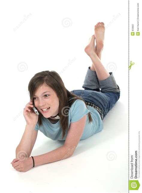 young pics young teen girl talking on cellphone 7 royalty free stock