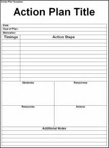 action plan template word excel formats