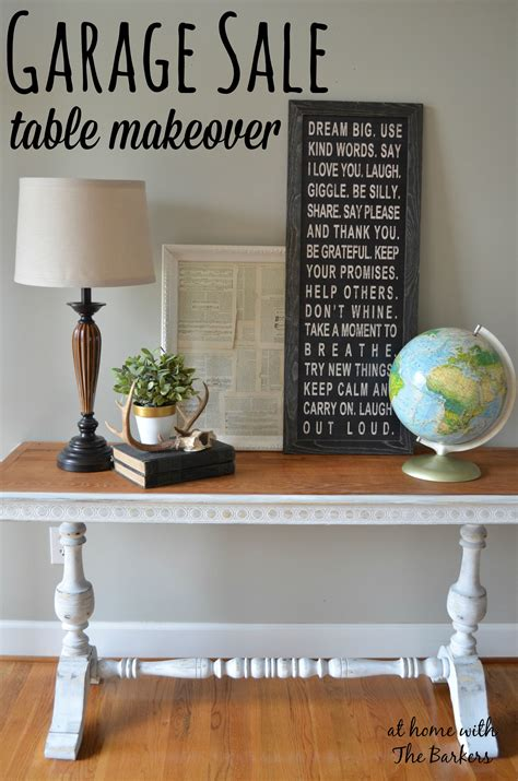 Garage Sale Tables by Garage Sale Table Makeover At Home With The Barkers