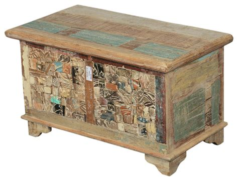 Decorative Trunks For Coffee Tables Rocky Mosaic Reclaimed Wood Standing Colorful Coffee Table Trunk Rustic Decorative Suitcases