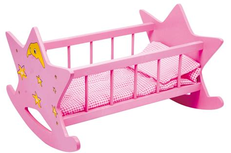 accesorios para mu 241 ecas cuna barnizada rosa con estrellas