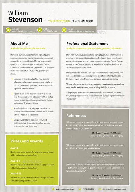 envato resume templates resume cv template by mrtemplater graphicriver