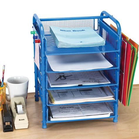 really good desktop classroom papers organizer with two