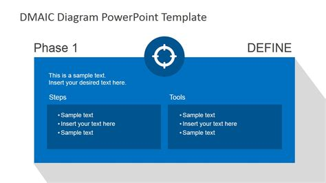 Flat Dmaic Powerpoint Template Slidemodel Define Template In Powerpoint
