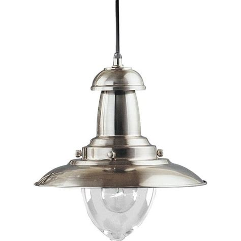 Silver Pendant Light Fixtures Searchlight 4301ss Fisherman 1 Light Satin Silver Ceiling Pendant